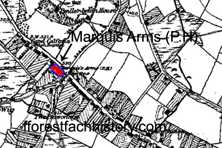 Marquis Arms Fforestfach OS map 1868-92
