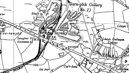 Garngoch No.1 Colliery OS map 1936-1947