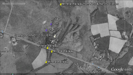 Garngoch N0.1 Colliery - Google Earth 1945