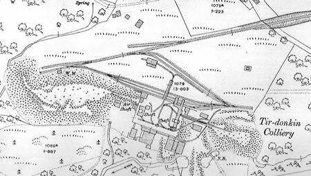 Tirdonkin Colliery 1916 OS Map