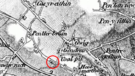 Gendros farm OS 1805-1874 Map